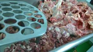 Dog Food Frozen Chicken Mince with Offal 46x 500g bags 23kg box. BARF RAW DIET